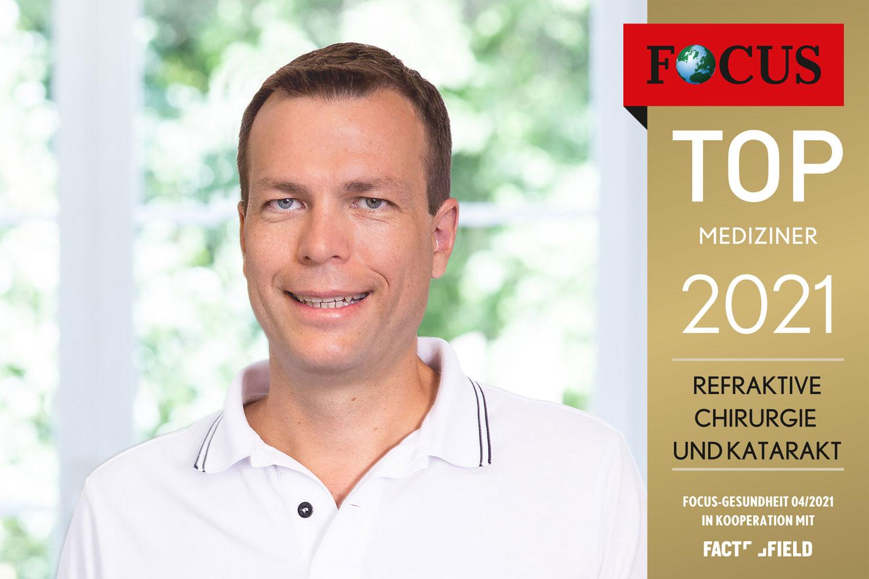 Focus Siegel für das Augenlaserzentrum mit Dr. W. Herrmann - Kategorie Top Mediziner der Refraktive Chirurgie